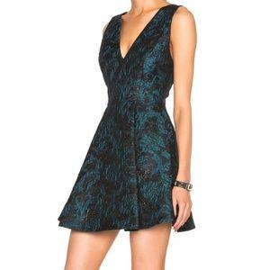 Alice + Olivia Malory Box Pleat A-Line Dress